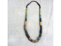 NECKLACE AFRICAN PEARLS MULTICOLOR/COLLIER PERLES  en Guadeloupe